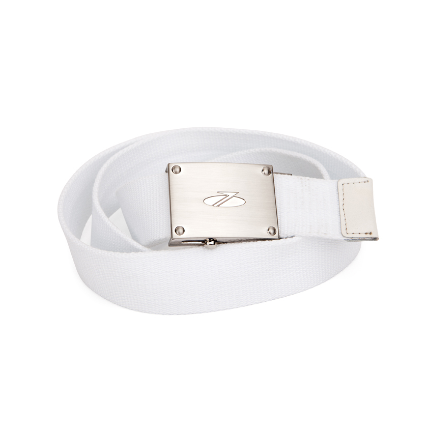 Mens Canvas Belt White
