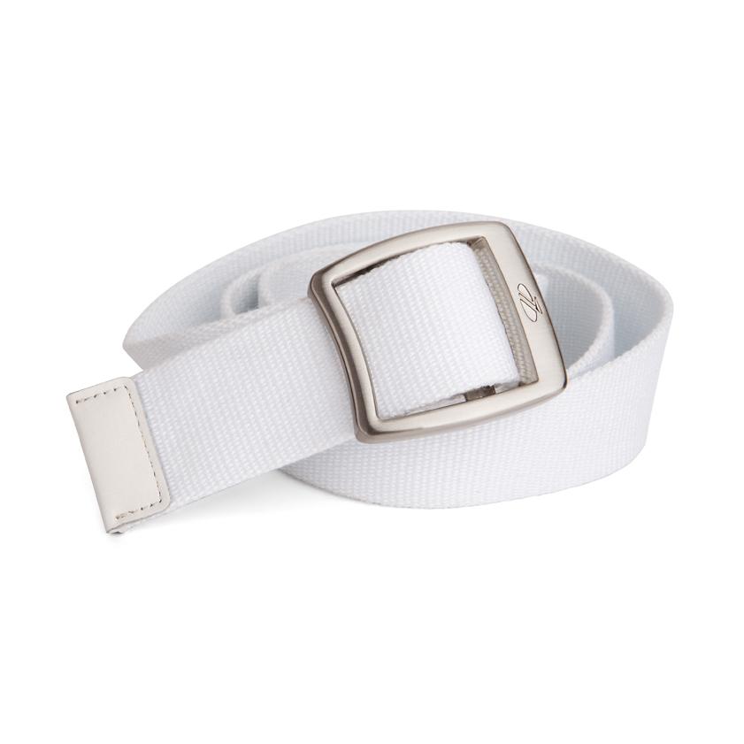 Ladies Canvas Belt White