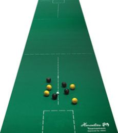 Lifestyle Indoor Bowls Carpet 30' x 6' (9m x 1.8m).