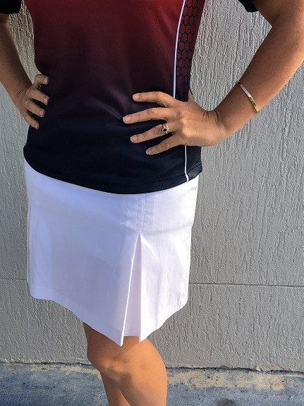 Hunter pleated Skort White