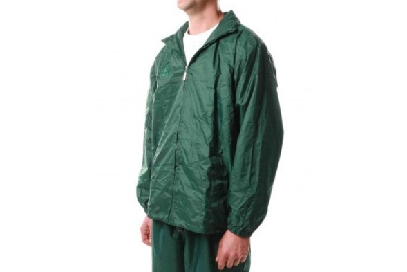 Hunter Lined Rain Jacket Bottle Green