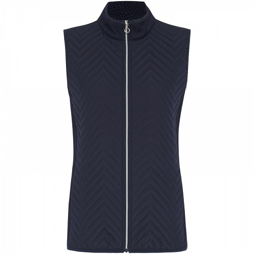 Sporte Leisure Ladies warm debossed vest Navy
