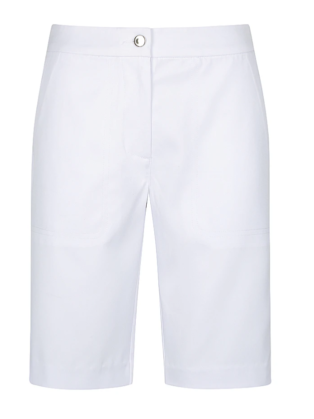 Aceit Ladies Tailored Shorts White