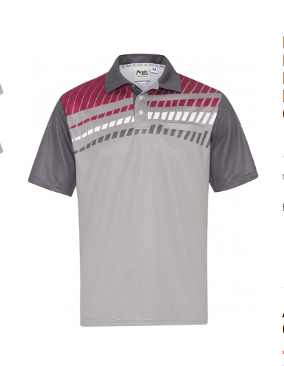 Drakes Pride Men's Alpha Polo Maroon/Grey
