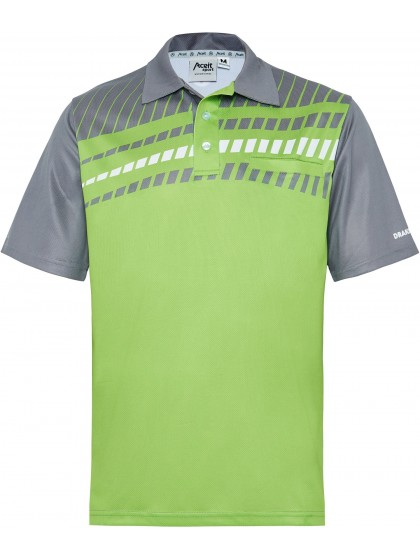 Drakes Pride Men's Alpha polo Lime/Grey.