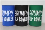 'Grumpy Old Bowler' Beer Stubbie